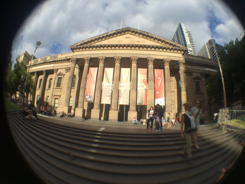 Victoria Library Architectural Column Architecture Building Exterior Built Structure City Fish-eye Lens Outdoors Travel Travel Destinations