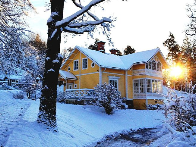 Värmdö  Gustavsberg Architecture Snow Building Exterior Building Winter Built Structure House Tree Architecture Cold Temperature Nature Beauty In Nature Outdoors