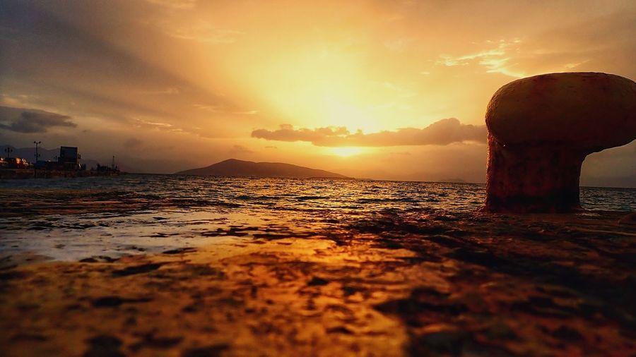 Golden Hour Aegina Greek Islands Greece Port Sea
