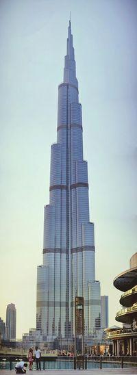 Vertical Panorama of Burj Khalifa Dubai Panorama Cityscapes Urban Landscape