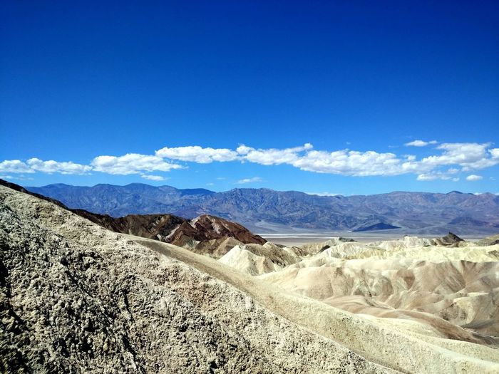 Death Valley Beauty In Nature Blue Climate Cloud - Sky Day Desert Environment Land Landscape Mountain Mountain Range Nature No People Non-urban Scene Outdoors Remote Scenics - Nature Sky Sunlight Tranquil Scene Tranquility