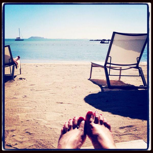 Putting my feet up! Mauritius Holiday Feet Sunbathing