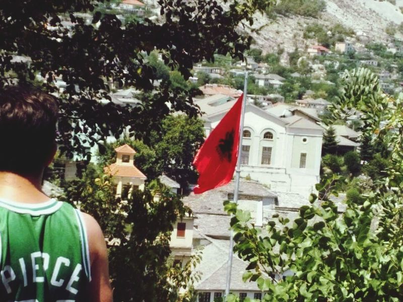 Hi! That's Me Great View Albania Gjirokaster Albanian Flag