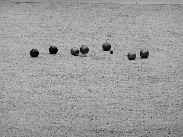 Sand Beach Day No People Outdoors Close-up Game Time  Boules EyeEm Taking Photos Boccia Boule Taking Pictures Blackandwhite Objects Minimalism Zoom Abstract