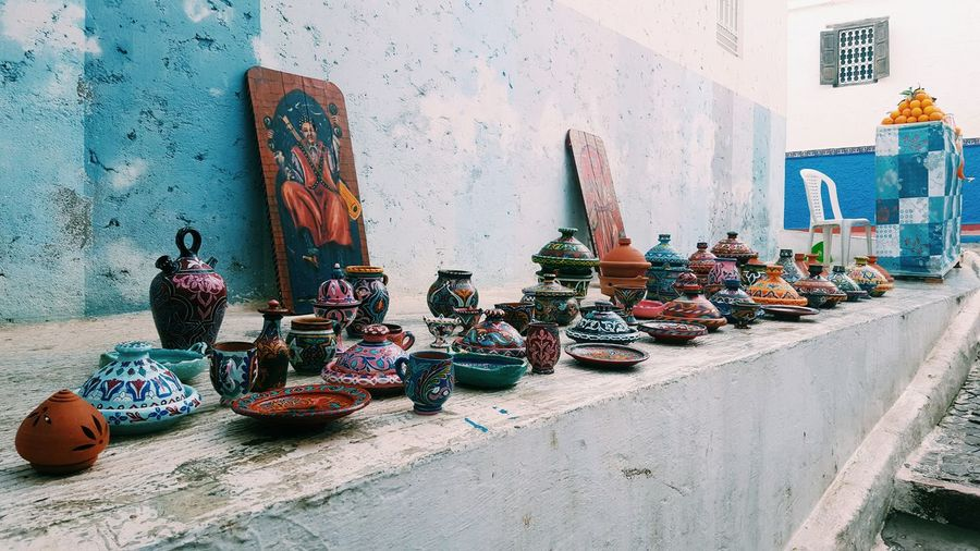 Outdoors Day Rabat,Morocco February Showcase Oudaya View Handmade Culture Tradional Art
