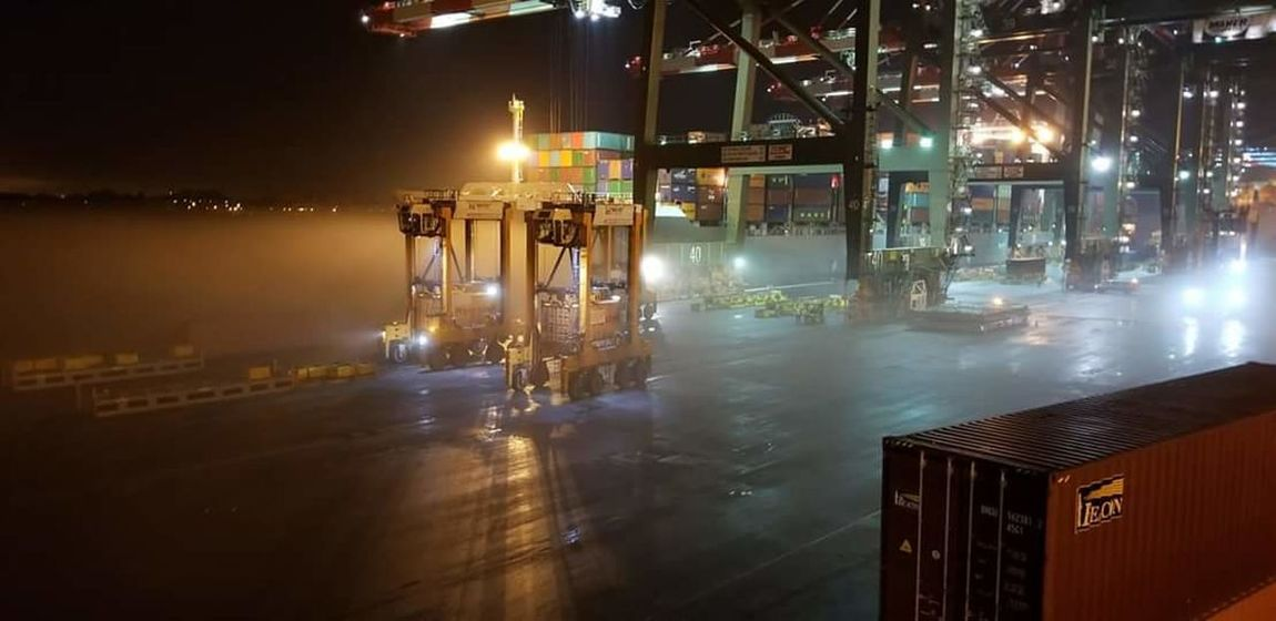 #ilastrong #WorkFlow #crane #starddlecarrier #cranelife #foggy Steam Illuminated Business Finance And Industry