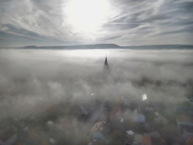 Im Nebel Nebelmeer Nebel Fog Sky Beauty In Nature Sea Nature Day Scenics - Nature Water