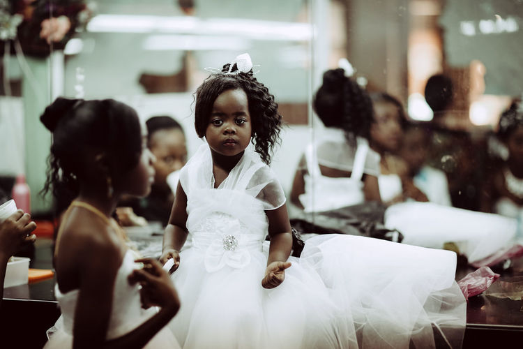 Preparing for a wedding Big Day Bridesmaid Bridesmaids Celebration Durban Event Event Getting Ready For A Wedding Girls Indoors  Selective Focus South Africa Wedding White