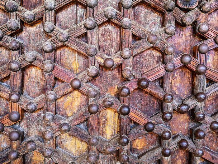 Detail shot of ornate door