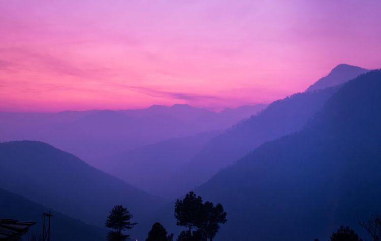 Shades of the mountain Thr Week On Eyeem EyeEm Best Shots EyeEmNewHere Shades India Nature Beauty In Nature Mountain Scenics Tranquility Silhouette Tranquil Scene Mountain Range Pink Color Outdoors Sky Sunset Day