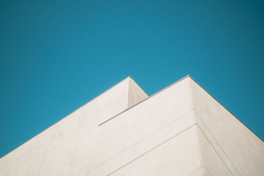 Two Corners The Graphic City The Week On EyeEm Architecture Building Exterior Built Structure Clear Sky Copy Space Day Hikinggalicia Low Angle View Minimalism Minimalobsession Modern No People Outdoors