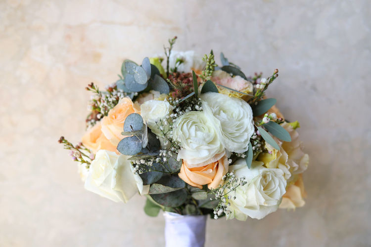 Wedding bouquet Flower Flowering Plant Plant Beauty In Nature Flower Arrangement Rosé Rose - Flower Bouquet Fragility Flower Head Vulnerability  Freshness Nature Close-up Wedding Petal Inflorescence Day Celebration Indoors  No People Bunch Of Flowers