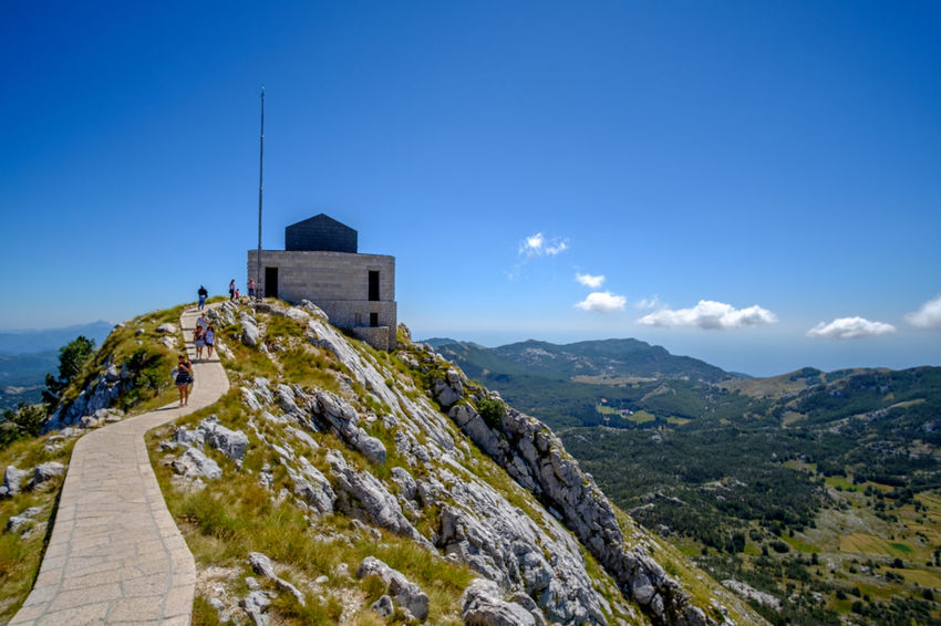 Njegosev Mauzolej Architecture Beauty In Nature Building Exterior Built Structure Cliff Cloud - Sky Day History Lovcen Low Angle View Montenegro Mountain Mountain Range Nature Njegos Mausoleum No People Outdoors Place Of Worship Religion Rock - Object Scenics Sky Spirituality