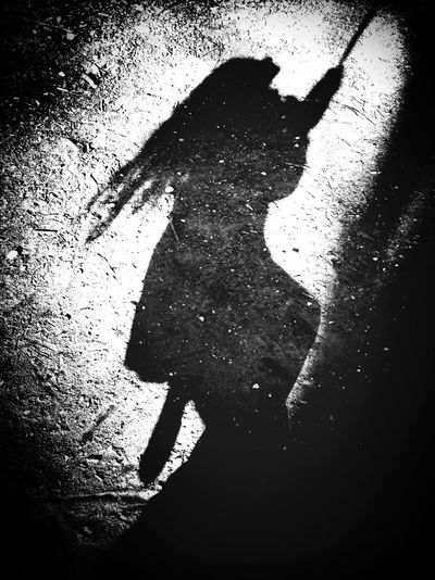 Blackandwhite Shadow Shootermag A witch on a broom The Illuminator - 2014 EyeEm Awards