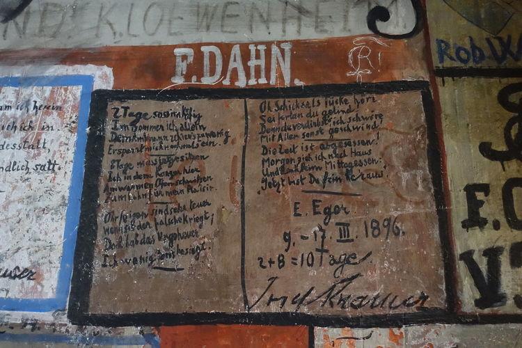 Old University Alte Universität Student Prison Heidelberg GERMANY🇩🇪DEUTSCHERLAND@ Studentenkarzer Alte Graffiti Communication Full Frame Text Western Script Close-up