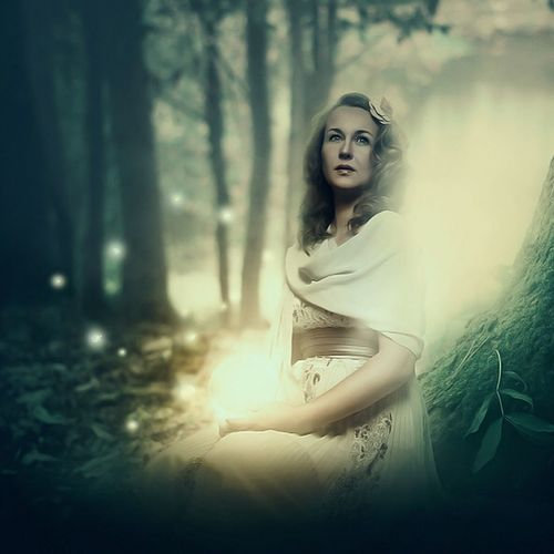 Woodfairy Feinfarben Fantasy Photography Woods Fairy Fairytale  Dreaming Beauty Beautiful Nature Model Photoshop Composition Retouch Green Forest Light Eyeemphotography EyeEmBestEdits