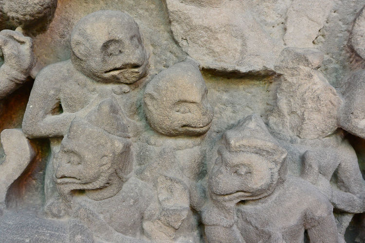 Art Art And Craft Backgrounds Carving - Craft Product Close-up Creativity Day Design Full Frame History Human Representation Monkey No People Old Outdoors Pattern Sculpture Statue Stone Material Textured  Weathered