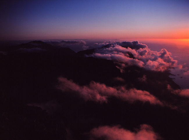 Above Aerial View Beauty In Nature Cloud - Sky Cloudscape Dramatic Sky Dusk Environment Idyllic Majestic Meteorology Nature No People Orange Color Outdoors Pink Color Purple Scenics - Nature Sky Sunset Tranquil Scene Tranquility