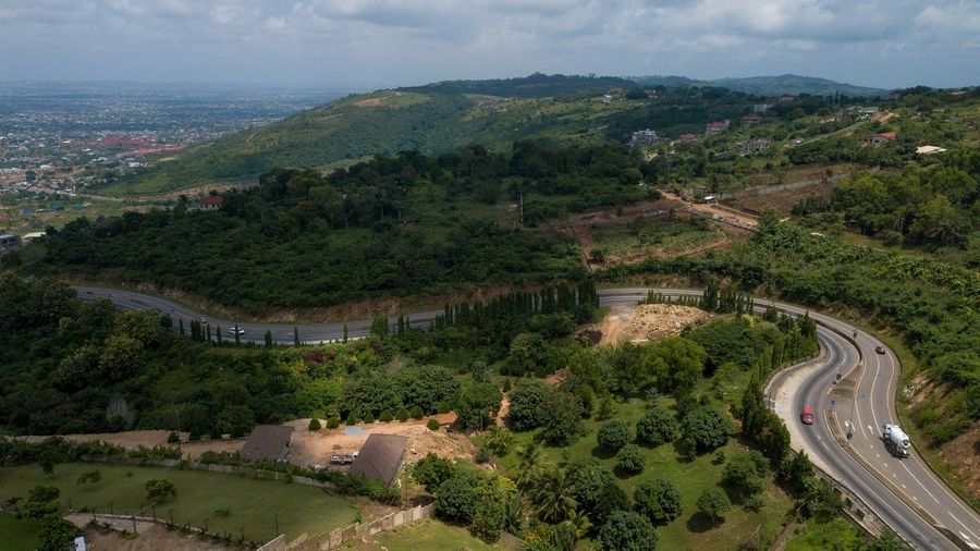 Ray Ray Onefotos Eyeemghana Dorofoto Tree High Angle View Landscape Plant Environment Scenics - Nature Nature Architecture Mountain Land Aerial View Beauty In Nature Growth Sky Agriculture Road