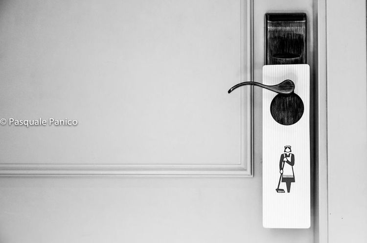 Do not disturb Stillife Blackandwhite Blancoynegro Door