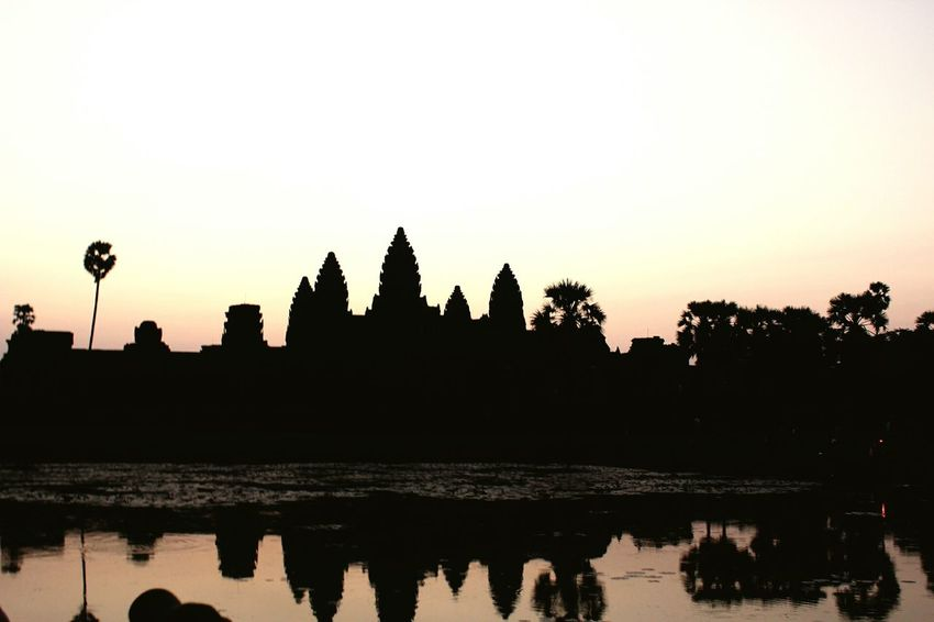 Angkor Wat.. Architecture Silhouette Reflection Religion Travel Destinations History Angkor Wat Siem Reap, Cambodia Travel Statue Gold City Outdoors Live For The Story The Great Outdoors - 2017 EyeEm Awards Eyeem Philippines The Photojournalist - 2017 EyeEm Awards Earth Leisure Activity Temples And Shrines Khmer Culture