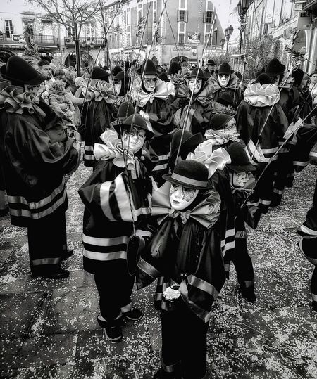 Black & White Limoux Carnaval 2017 Outdoors Day South Of France Carnaval Black And White Blackandwhite Black & White Carnival Carnival Crowds And Details Carnaval 2017 Carnaval De Limoux Carnival Time Carnival Spirit Limoux Confetti Confetti On The Ground France France🇫🇷 France Photos Limoux Carnival Costume Carnival Costumes Carnival Mask