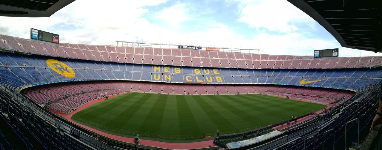 Més que un club ❤💙 Stadium Atmosphere Campnou #barcelona Football Barça [a:598316] EyeEmNewHere