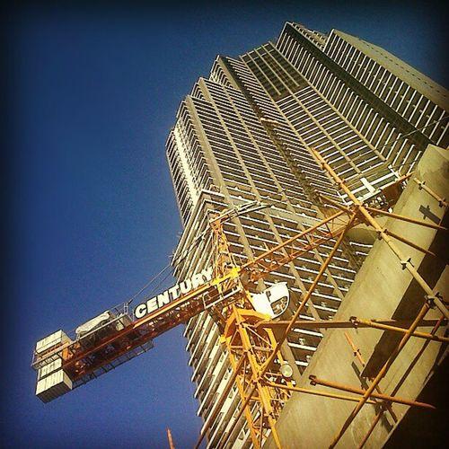 Looking up Gramercy Residences, the country's tallest building Centuryproperties Gramercy Gramercygardens Walkthru oculagr work
