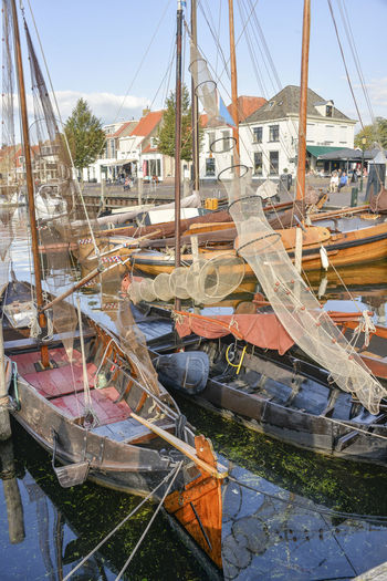 Elburg Netherlands Harbor Marina Elburg Fishing Boat Holland No People Transportation