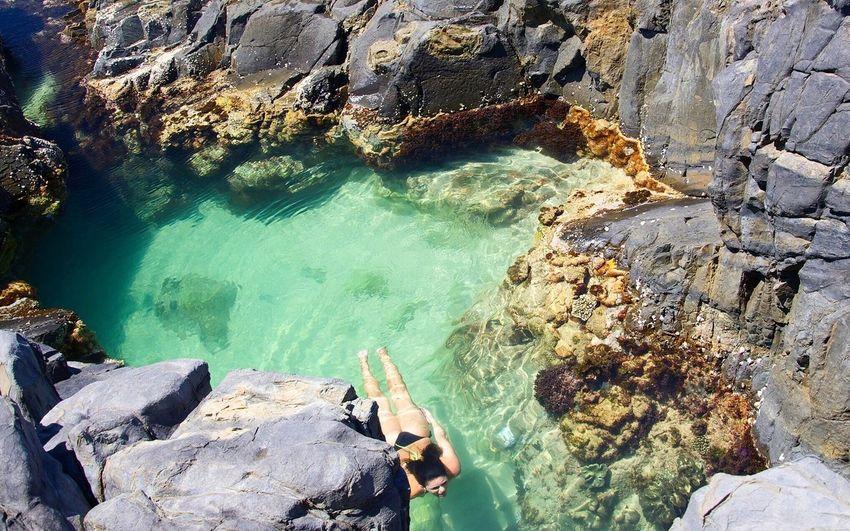 Natural pool Sunshine Coast Queensland Australia Nature Travel Destinations Rock Pool Noosa