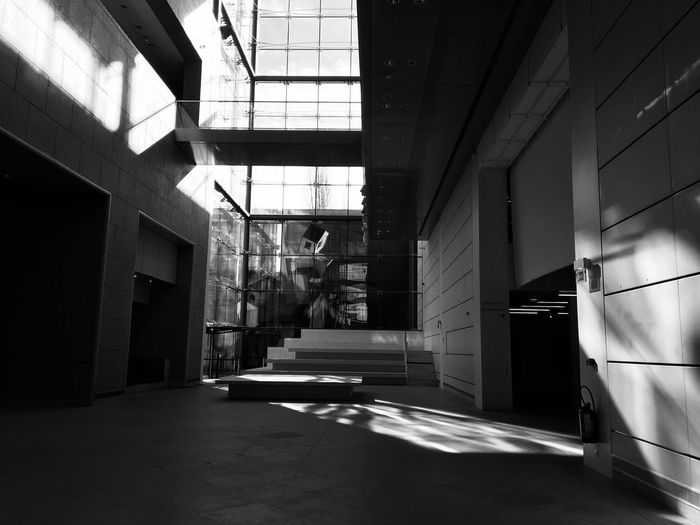Light. Blackandwhite France Strasbourg Built Structure Architecture The Way Forward Day Indoors  No People
