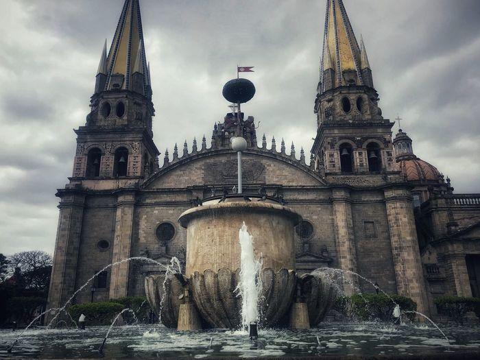 Jalisco Guadalajara Walk Religion Church Architecture Built Structure Water Building Exterior Sky Travel Destinations Fountain Tourism Cloud - Sky Building City No People