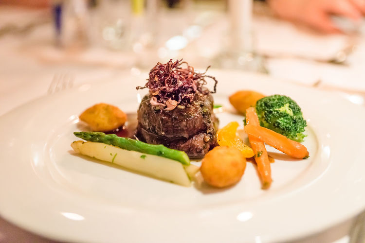 Beef Broccoli Close-up Crockery Focus On Foreground Food Food And Drink Food Styling Freshness Garnish Healthy Eating Indoors  Meal Meat No People Plate Ready-to-eat Red Meat Selective Focus Serving Size Still Life Table Temptation Vegetable Wellbeing