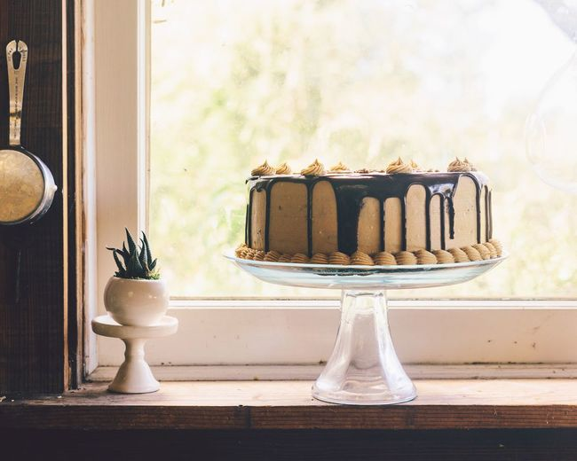 Chocolate peanut butter cake Celebration Birthday Baking Homemade Sweets Cake Indoors  Table Indulgence Sweet Food Food And Drink No People Plate Food Close-up Freshness Ready-to-eat