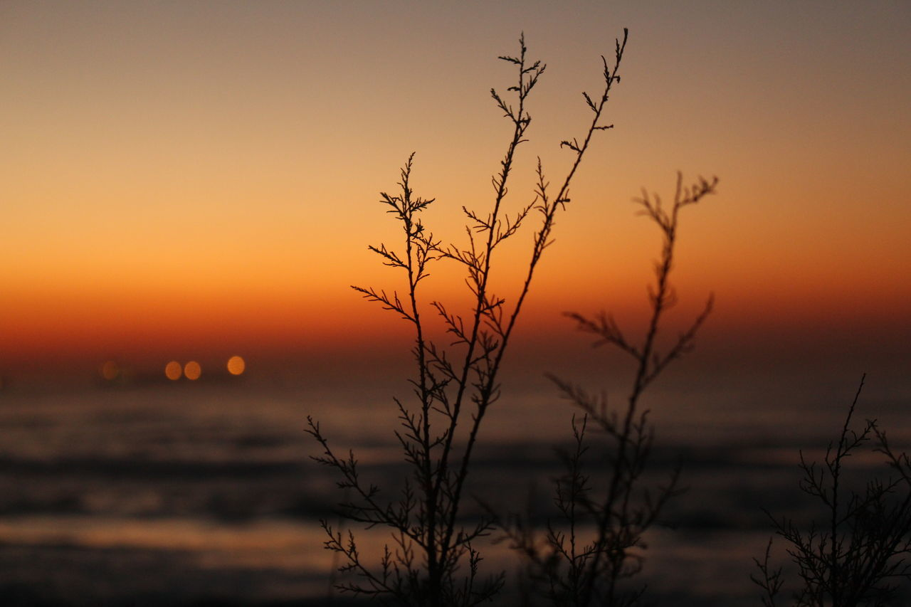 Close-Up Of Sea Against Sunset Sky