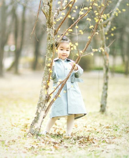 Spring Childhood Child One Person Full Length Portrait Innocence Looking At Camera People Easter Happiness Smiling Children Only Standing Nature Outdoors Tree Day EyeEmNewHere