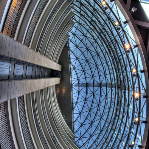 inside bank Architecture Built Structure HDR HDR Collection Holland Leeuwarden Modern Pattern Rob Handgraaf Fotografie