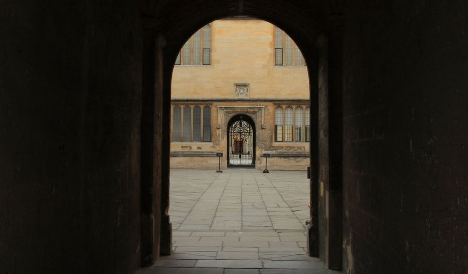 Oxford Archway Arch Architectural Detail Architecture Architecture Archway Building Built Structure City Cotswold Stone Dark To Light Diminishing Perspective Empty Historic Narrow No People Oxford Tunnel University