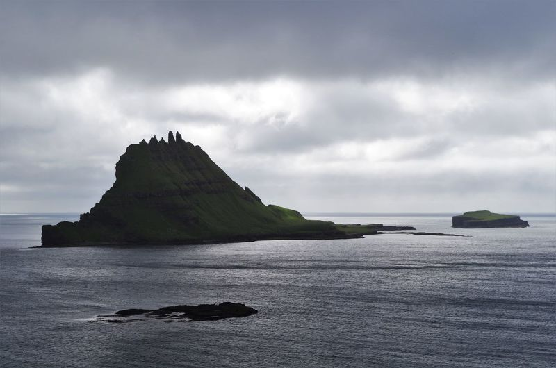 Tindhólmur, a saw tooth shaped island of the faroe islands. Beach Beauty In Nature Cloudscape Day Denmark Faroe Islands Horizon Over Water Island Islands Landscape Mountains Nature No People Ocean Ocean View Outdoors Rock - Object Saw Tooth Sawtooth Scenics Sea Sea And Sky Tindhólmur Tranquil Scene Tranquility