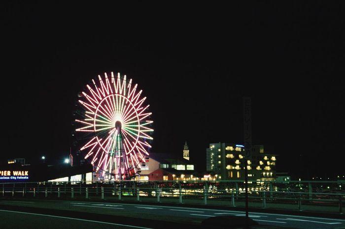 Night Illuminated Street Marinoacity Dark Big Wheel Showy Croon Far Cool Wind