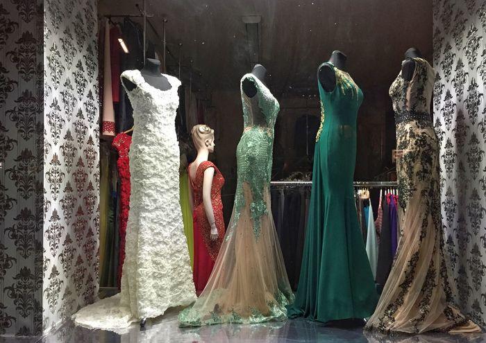 Night Outside Lights Shopwindow Dresses