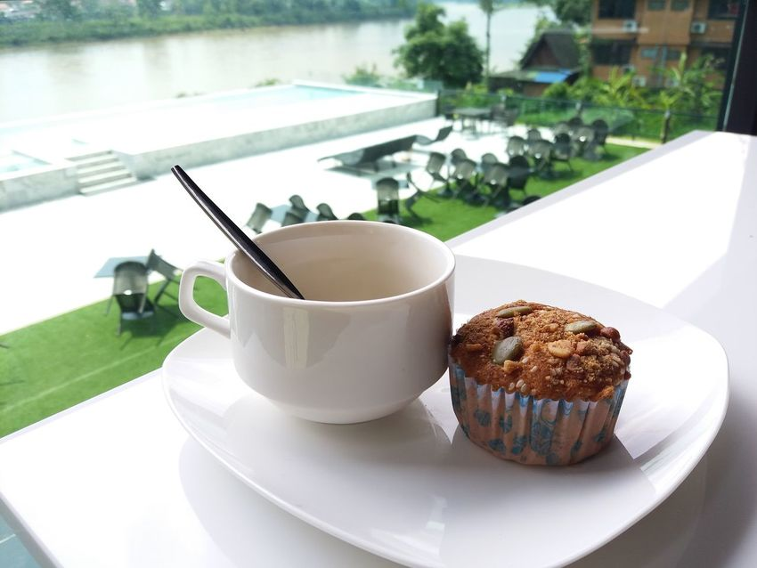 Coffee Cake Indulgence Food And Drink Plate Food Sweet Food Dessert Healthy Eating Freshness Day No People Indoors  Ready-to-eat Close-up
