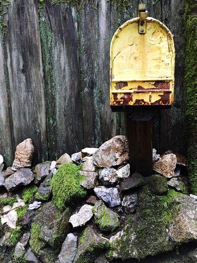 Mail Mailbox Yellow Rocks Wood Fence Bonny Doon California United States Showcase: February U.s. Mail Post Postal Service