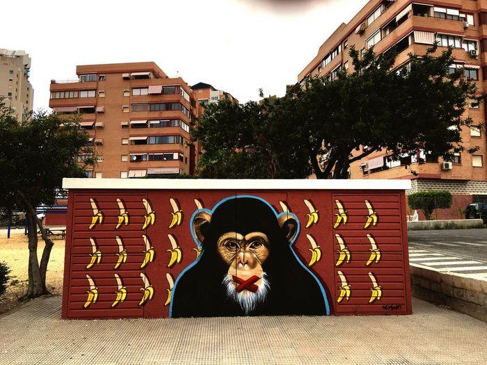 No bananas Streetart Graffiti First Eyeem Photo Monkey Bananas