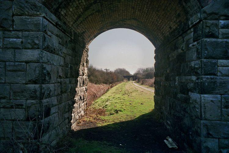 Underside railway bridge