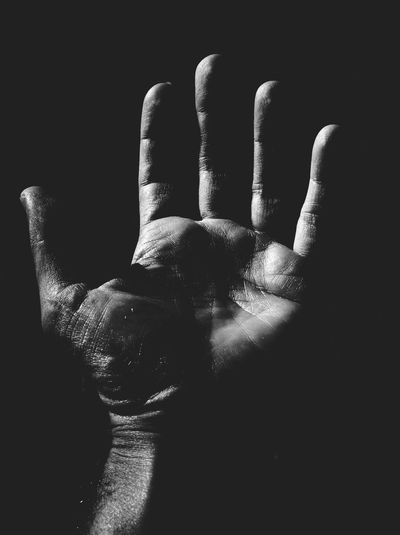 Black And White Friday Black Background Close-up Day Human Body Part Human Finger Human Hand Indoors  Men One Person Palm People Real People Inner Power