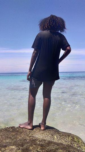 Water Sea Full Length Beach Men Standing Low Section Sand Sky Horizon Over Water The Creative - 2018 EyeEm Awards