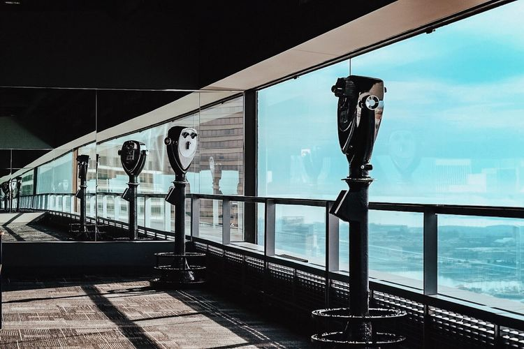 Architecture Binoculars Glass - Material High Up Mirror Observation Reflection Window World Trade Center