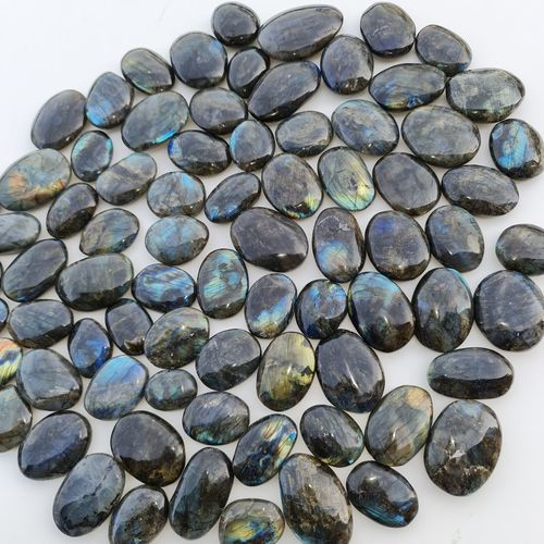 High angle view of stones