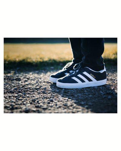 Adidas Gazelle Adidas Adidasoriginals Adidasgazelle Walking Autumncolours Trainers Sneakers Sneakerhead  Kicks Low Section Human Leg City Standing Shoe Sand Close-up First Eyeem Photo